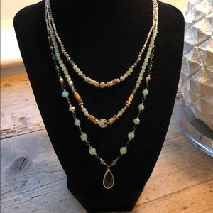 NWT Blue Crystal Necklace